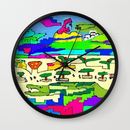 the crazy persons in plaza Wall Clock