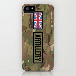 British Flag: Artillery (Camo) iPhone Case