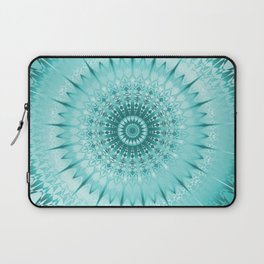 Tuquoise Metallic Mandala Laptop Sleeve