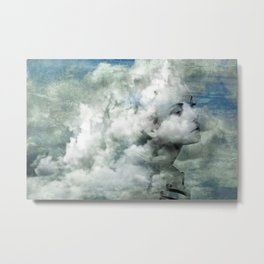 You must not blame me if I do talk to the clouds Metal Print