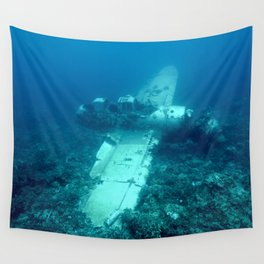 Jake's seaplane wreck Wall Tapestry