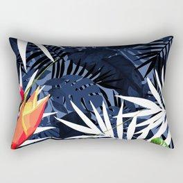 Bold Tropical Paradise Design Rectangular Pillow