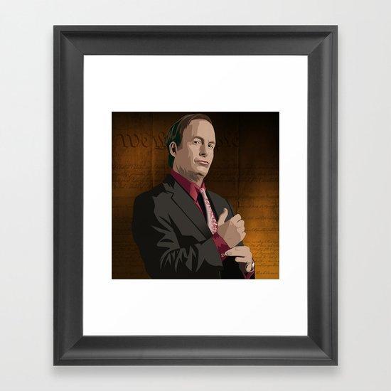 Breaking Bad Illustrated - Saul Goodman Framed Art Print