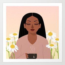 chamomile in april Art Print