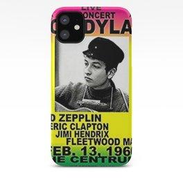 Vintage 1966 Centrum, Worcester, Massachusetts Bob Dylan Concert Billboard Gig Poster iPhone Case