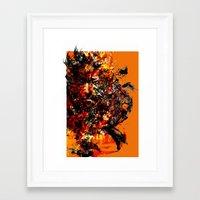 metal gear Framed Art Prints featuring metal gear by ururuty