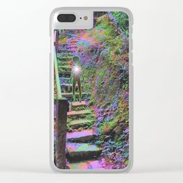 On Stairs Clear iPhone Case