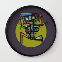 dancer Wall Clocks featuring Dancer by Rudolf Brancovsky