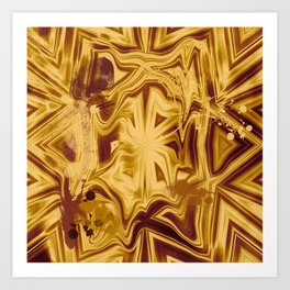 Bold melted copper striped kaleidoscope Art Print