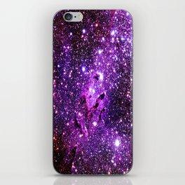 Purple Galaxy Eagle Nebula iPhone Skin