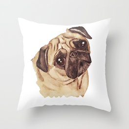 Pug Picture Throw Pillow