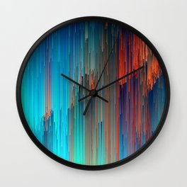 All About Us - Abstract Glitch Pixel Art Wall Clock