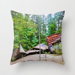 whistler train wreck, 2017 Throw Pillow