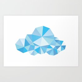 Diamond Clouds in the Sky Pattern Art Print