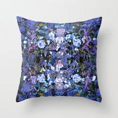 Blue Spot Floral Throw Pillow