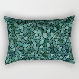 Oceanic Mosaic Crust Texture Abstract Pattern Rectangular Pillow