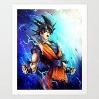 goku Art Prints featuring Goku by Vincent Vernacatola