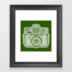I Still Shoot Film Holga Logo - Reversed Green Framed Art Print