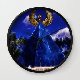 Blue Pyramid Power Wall Clock