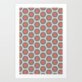 cactus rose light Art Print