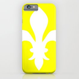 Fleur de Lis (White & Yellow) iPhone Case
