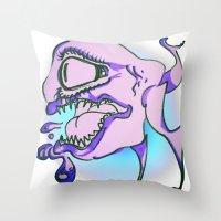 michael scott Throw Pillows featuring SCOTT by Sebastian Hanlon