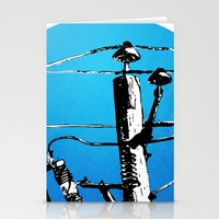 transformer Stationery Cards featuring Transformer Sky by Rebecca Joy - Joy Art and Design