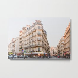 Sunset in Saint-Germain - Paris Photography Metal Print