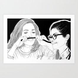 Orphan Black - Evelyne Brochu Dread Mustache (Original Artwork Print) Art Print