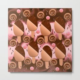 Ice cream pop Metal Print