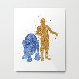C3PO and R2D2 Star . Wars Metal Print