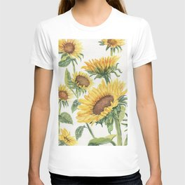 Blooming Sunflowers T-shirt
