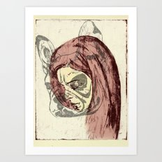 inner frenchie Art Print