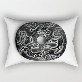 Black Jade Ring Rectangular Pillow