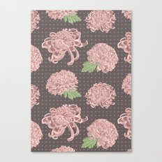 Soft Pink Chrysantemum Seamless Pattern Canvas Print