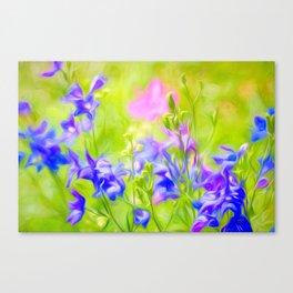 Delphinium Meadow Canvas Print