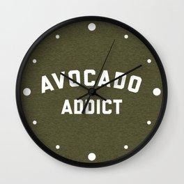 Avocado Addict Funny Quote Wall Clock