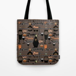Abstract holiday gift pattern for men . Drinks . bar . Tote Bag