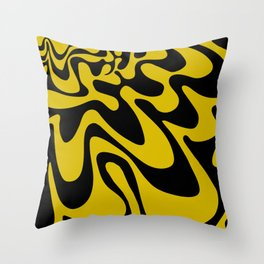 Swirly Whirly: Abstract Pop Art Painting by Bruce Gray Throw Pillow