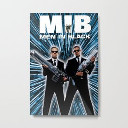 Men In Black Metal Print