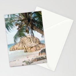 Paradise beach La Digue Seychelles  Stationery Cards