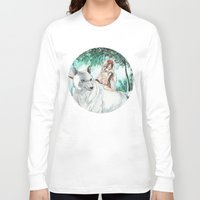 princess mononoke Long Sleeve T-shirts featuring Princess Mononoke by VivianLohArts