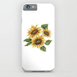 Sunflowers Bouquet iPhone Case