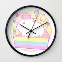 hamster Wall Clocks featuring Sweet Hamster by AquaZircon (LumiiLoup)