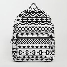 Aztec Essence Ptn III Black on White Backpack