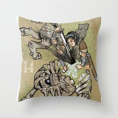 fourteenth colossus Throw Pillow