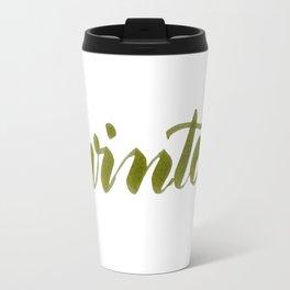 Winter - green Travel Mug