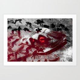 Into The Grey Art Print