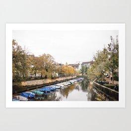 Walking through a Zurich Day Art Print