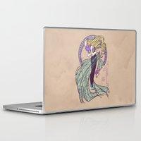 nouveau Laptop & iPad Skins featuring Spider Nouveau by Karen Hallion Illustrations